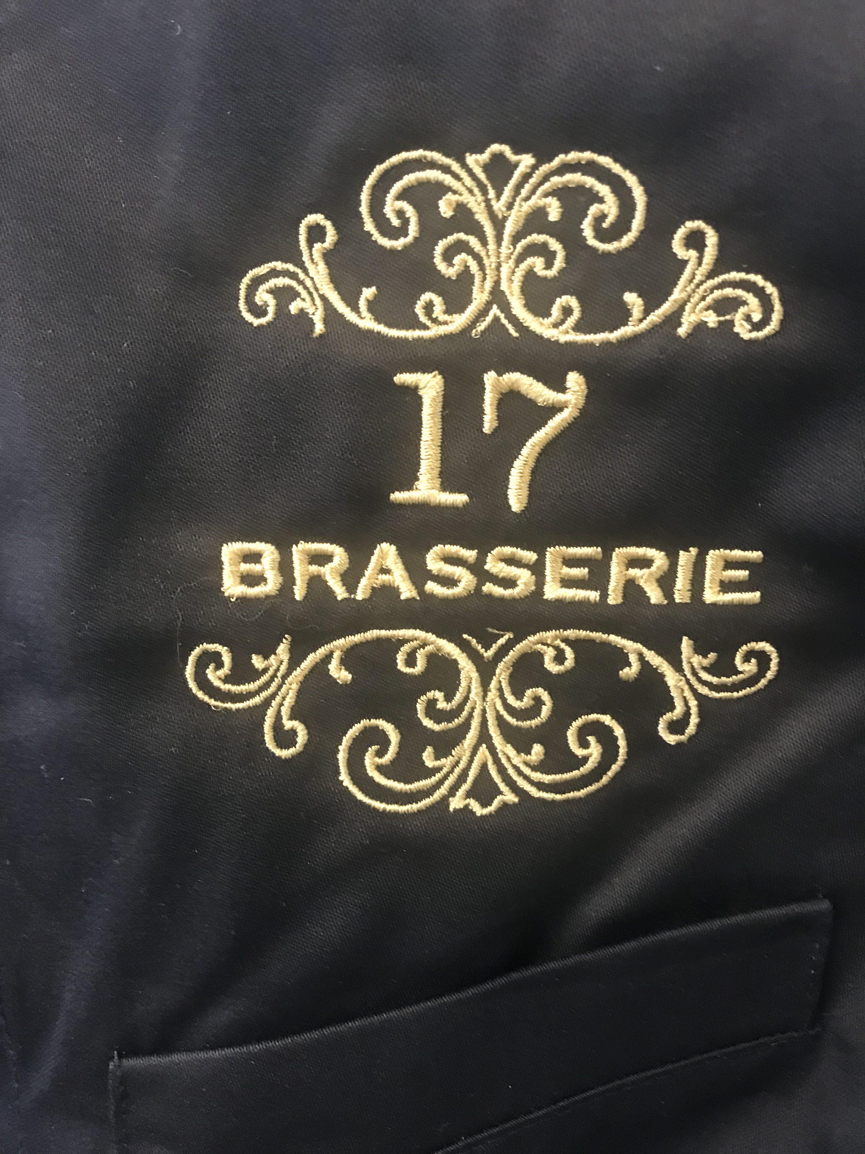 Brasserie 17 borduren op kleding