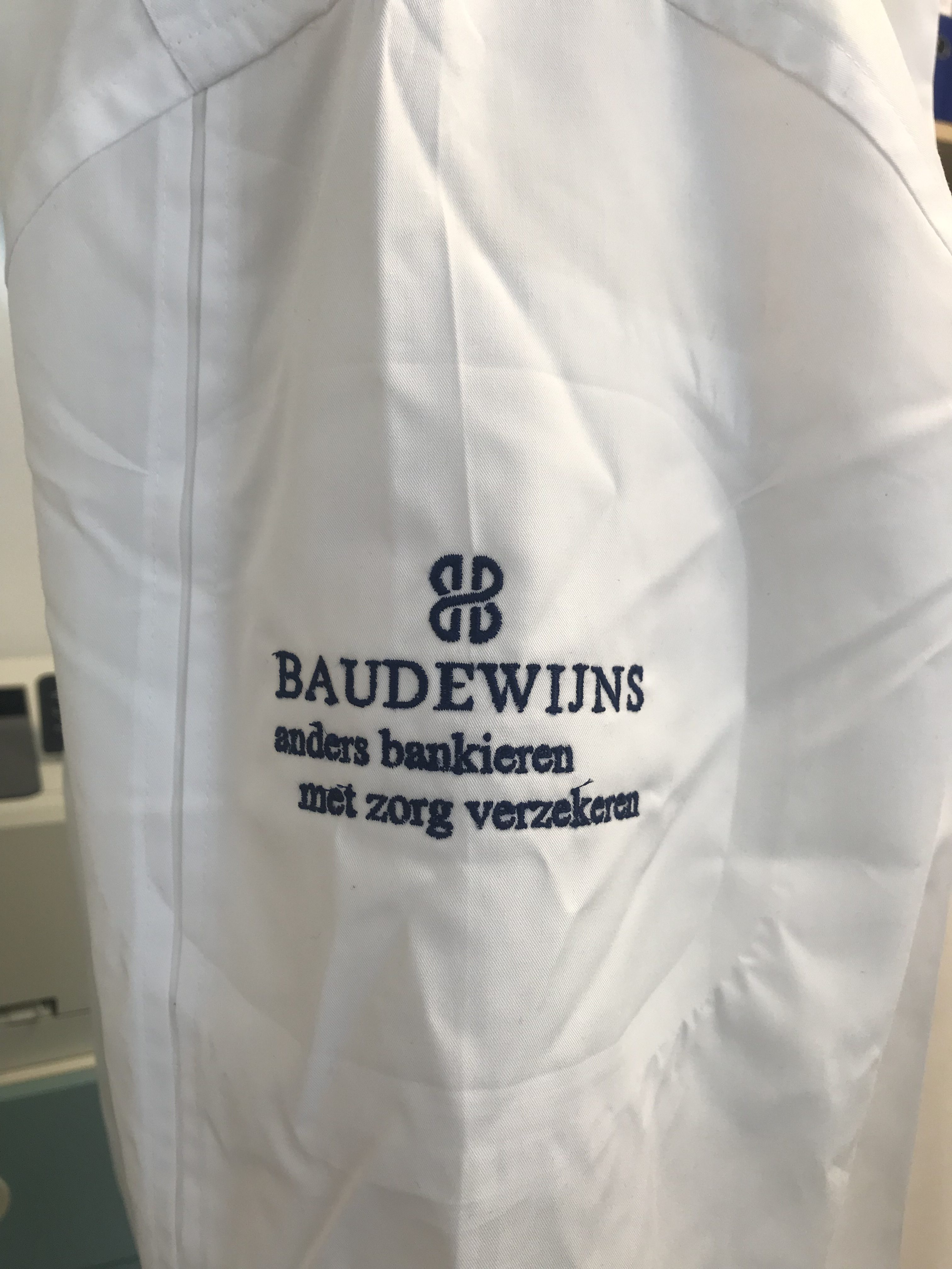 Bruno Baudewijns Crelan Bank borduren op kleding