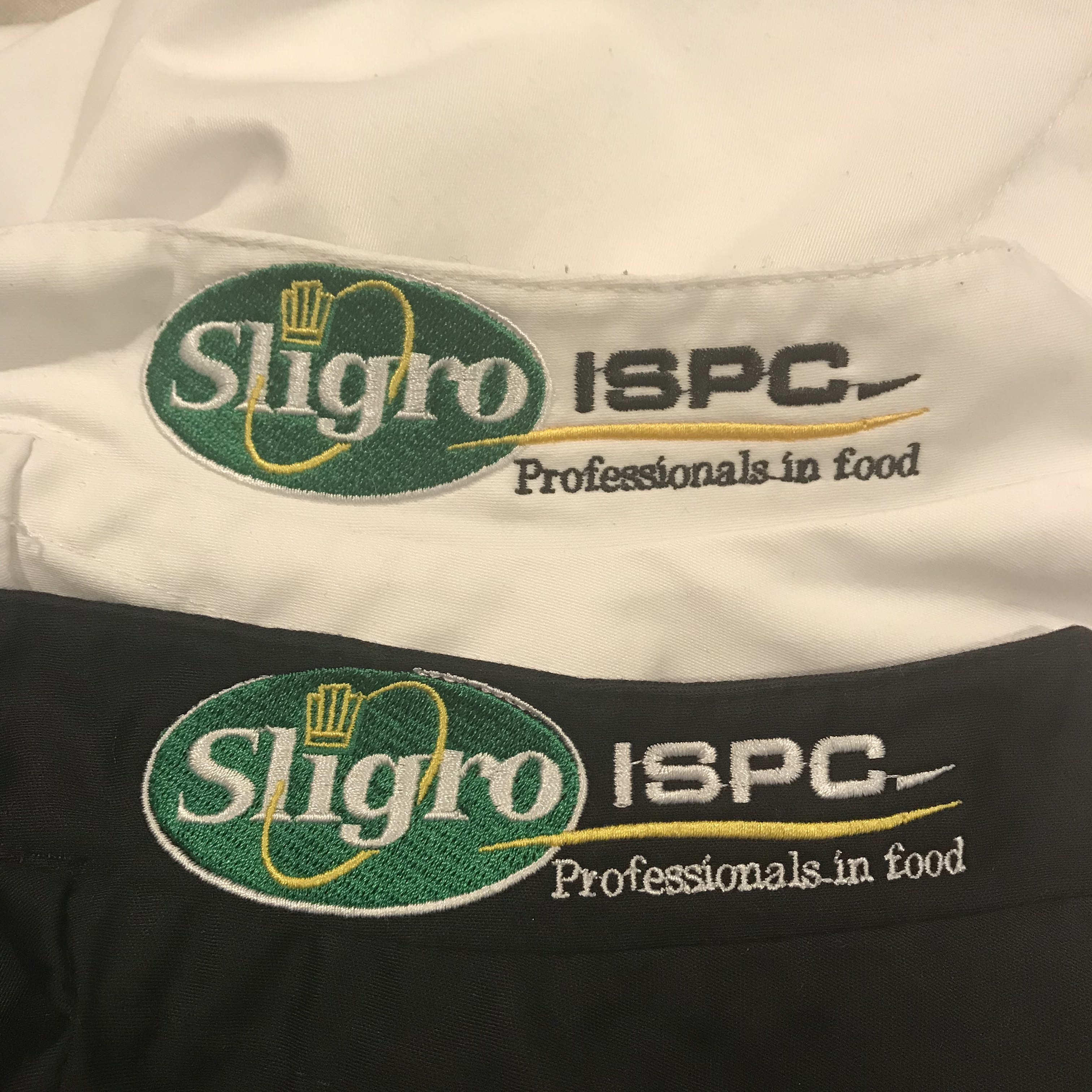 Sligro Ispc borduren op kleding