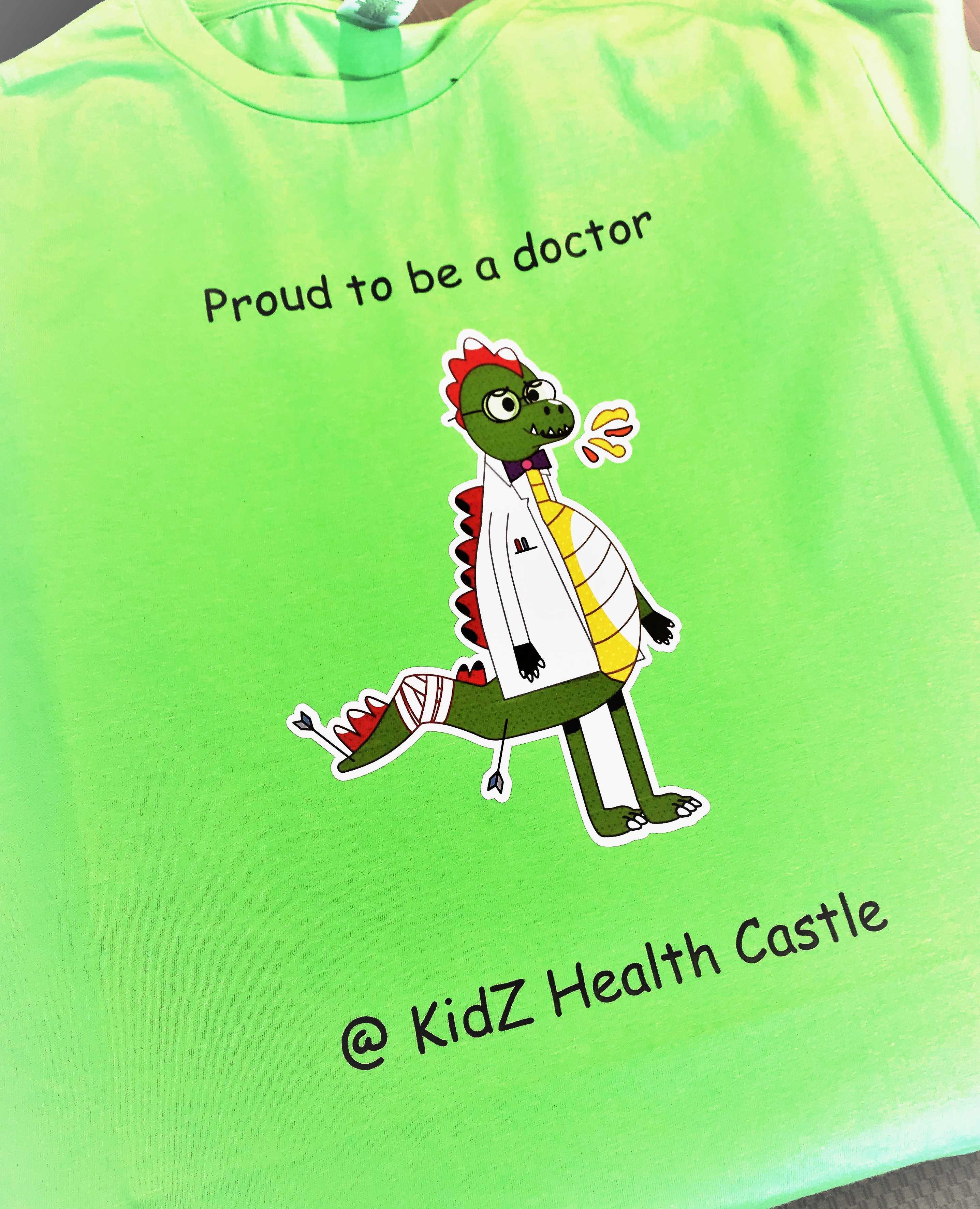 bedrijven t-shirt Kids Health Castel uz Brussel borduren op kleding