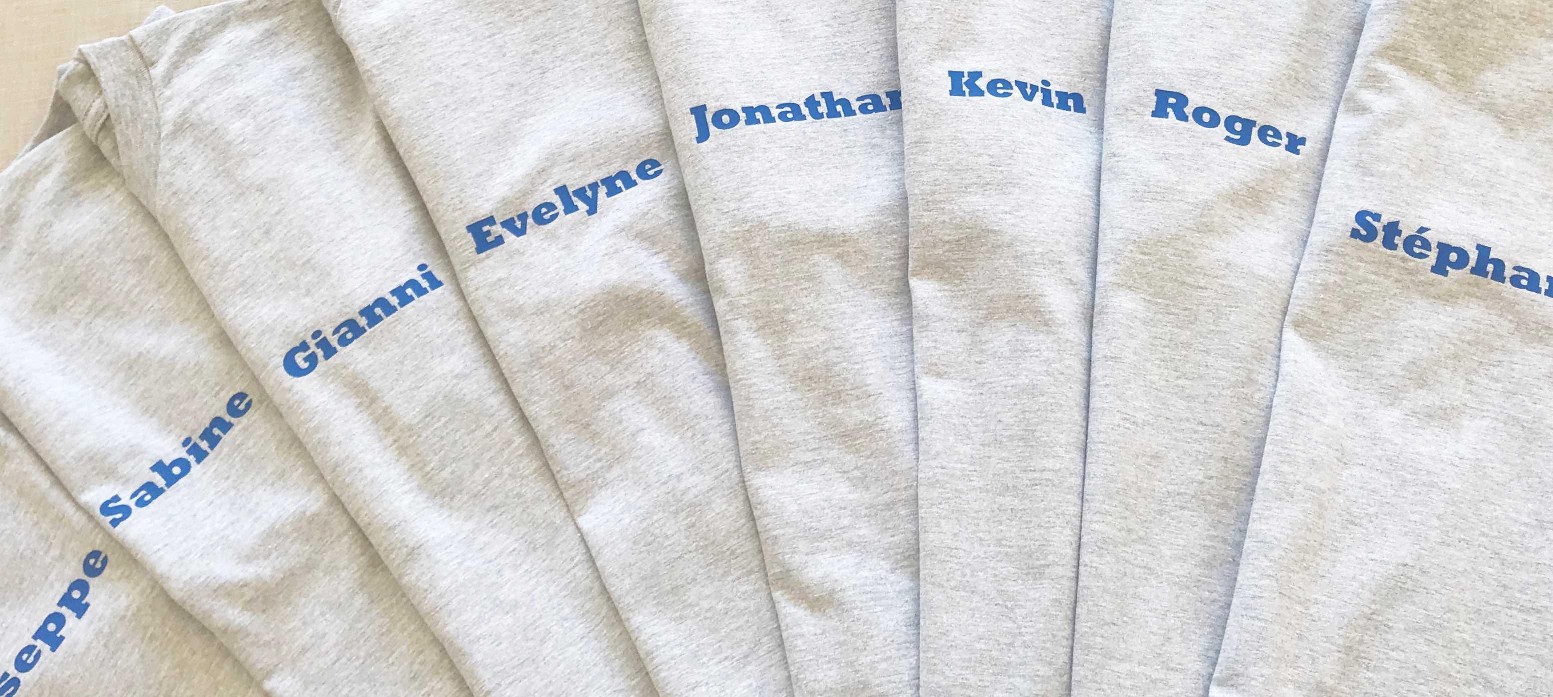 bedrijven t-shirt voor de medewerkers borduren op kleding