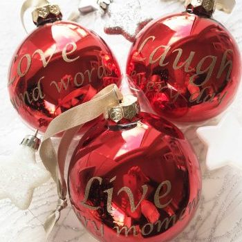 Kerst ballen met naam