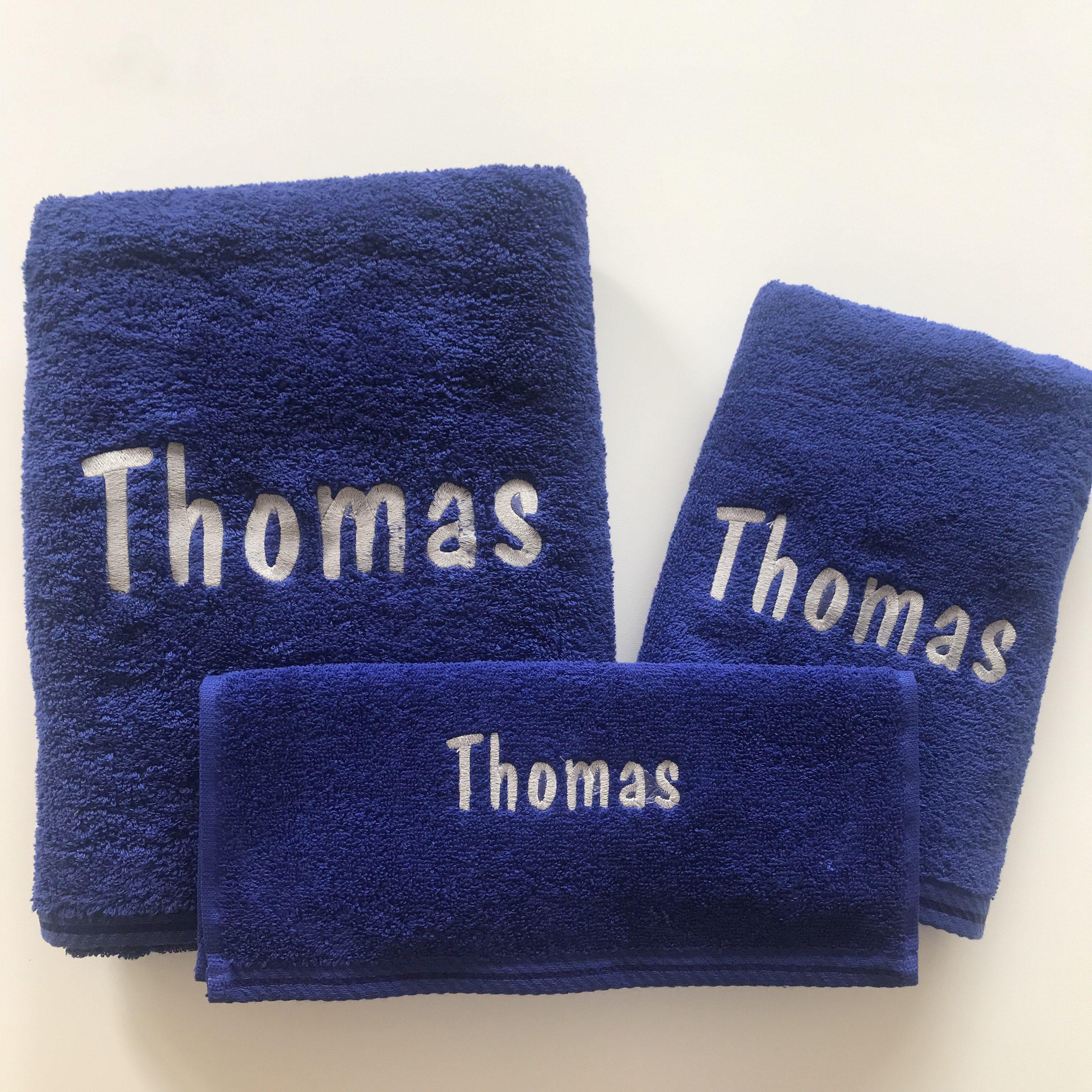 Set badhanddoeken blauw