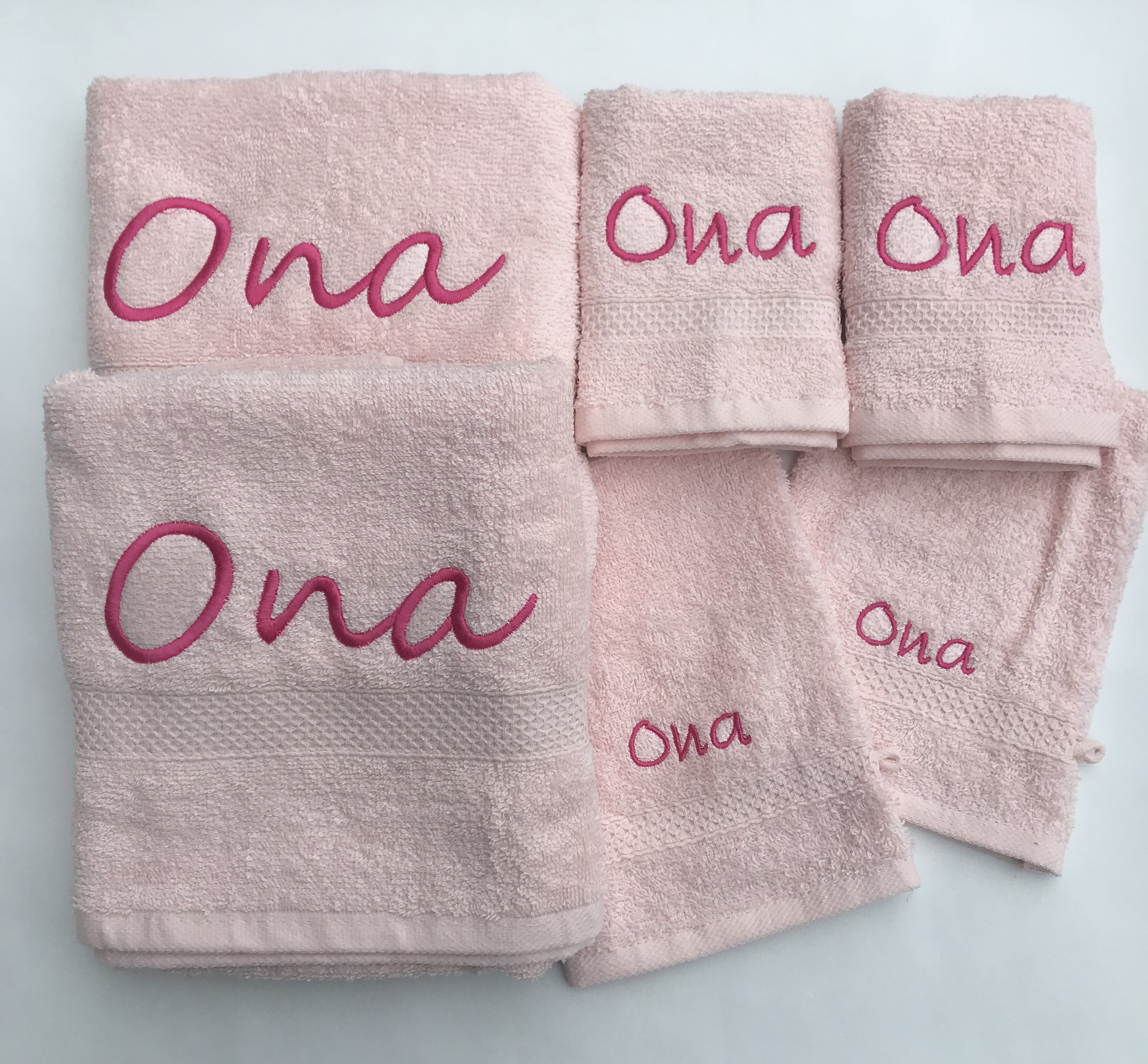Set badhanddoeken en washandje